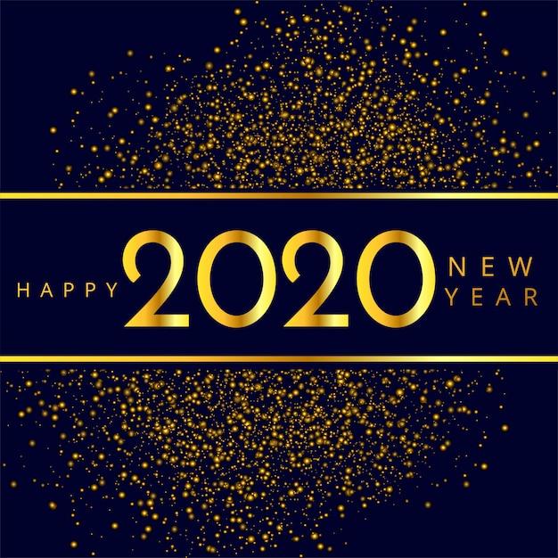 Schönes 2020 neues jahr funkelt feiervektor Kostenlosen Vektoren