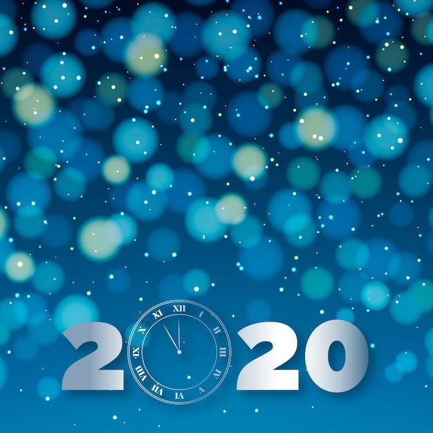 Schönes unscharfes neues jahr 2020 Kostenlosen Vektoren
