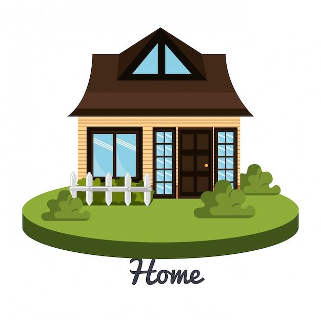 Schönes zuhause Kostenlosen Vektoren