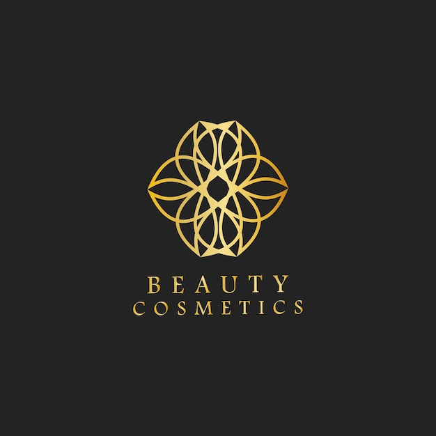 Schönheitskosmetikdesign-logovektor Kostenlosen Vektoren