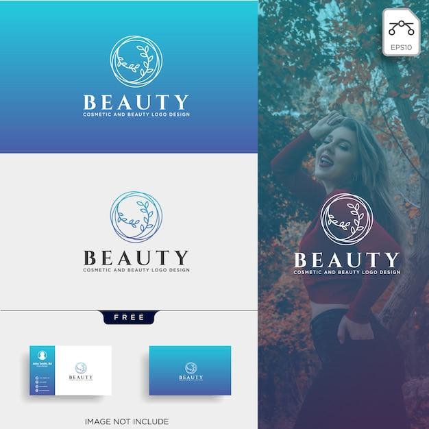 Schönheitskosmetiklinie kunstlogo-ikonenelement Premium Vektoren