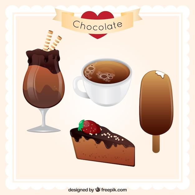 Schokolade obsession Kostenlosen Vektoren