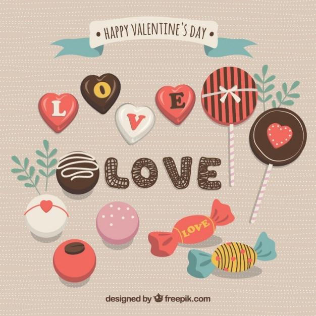 Schokolade St. Valentinstag Packung Kostenlose Vektoren