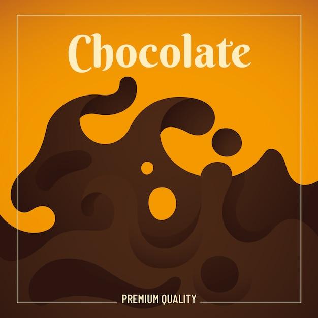 Schokoladenhintergrund Premium Vektoren