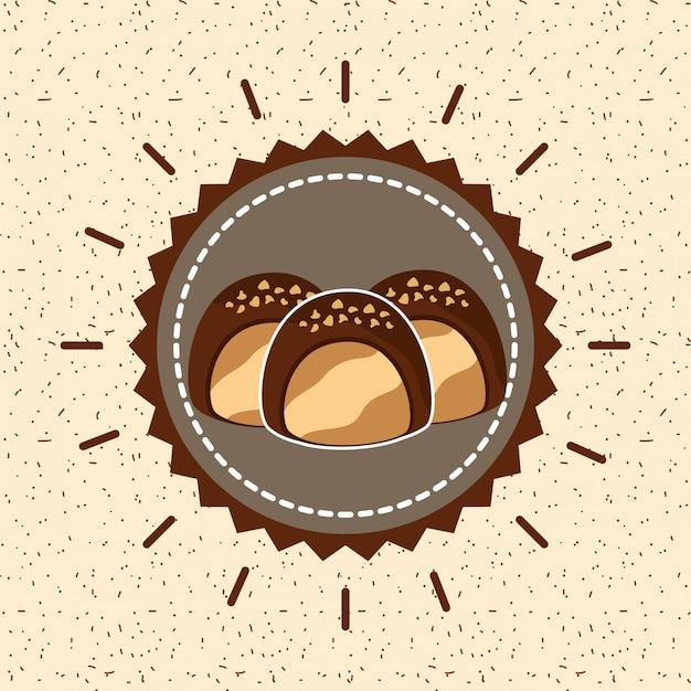Schokoladenkakao-karte Premium Vektoren