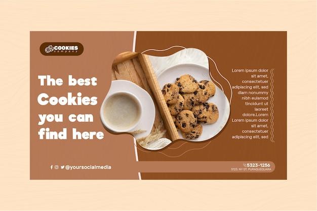 Schokoladenplätzchen-bannerschablone Kostenlosen Vektoren
