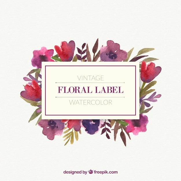 Schöne Blumen mit Blättern Vintage-Rahmen | Download der kostenlosen ...