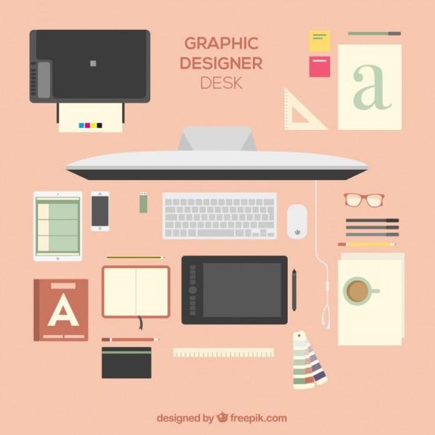 Sch ne grafik designer schreibtisch download der premium for Grafik designer