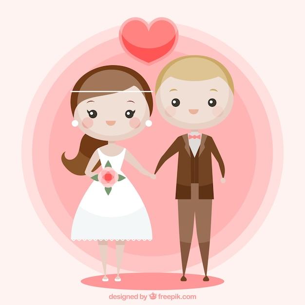 Schone Hochzeit Paar In Der Liebe Download Der Kostenlosen Vektor
