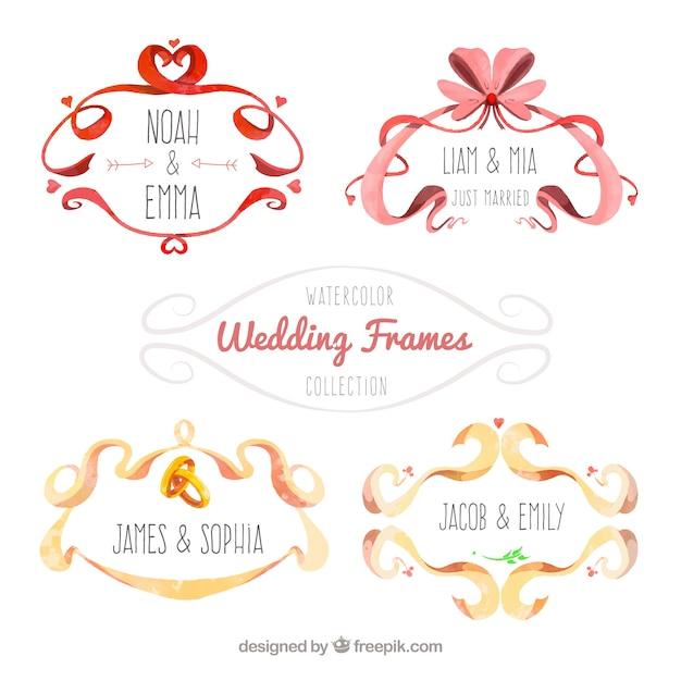 Schone Hochzeit Rahmen Mit Aquarell Gemalt Download Der