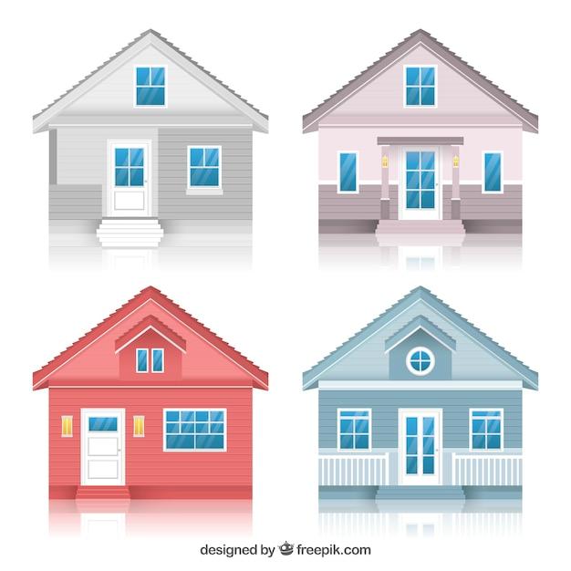 Schöne Sammlung von Häusern in sanften Farben | Download der ...