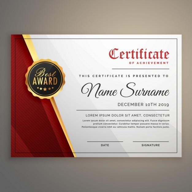 Schöne Zertifikatvorlage Design mit bester Auszeichnung Symbol ...