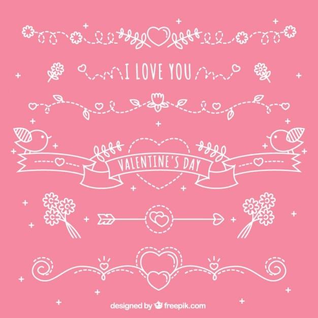 Sch Nen Valentinstag Dekoration Download Der Kostenlosen