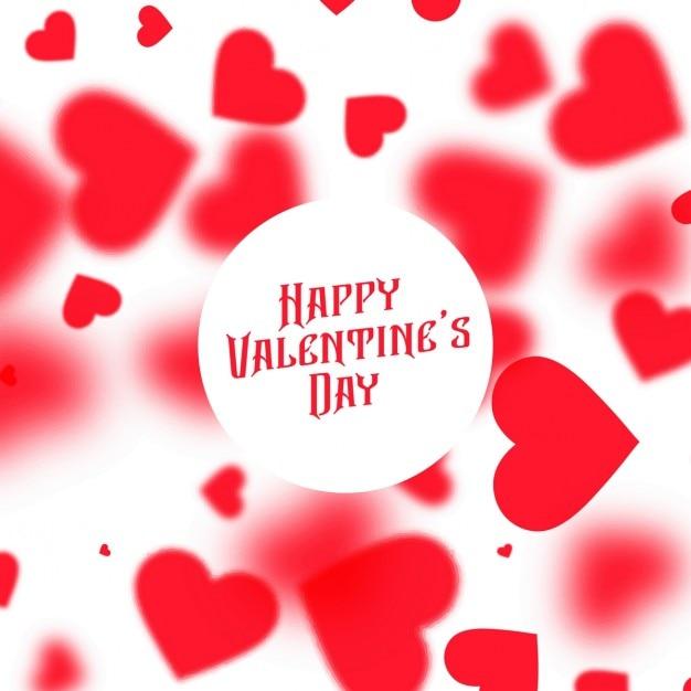 Schönen Valentinstag Hintergrund Mit Roten Verschwommen Herzen