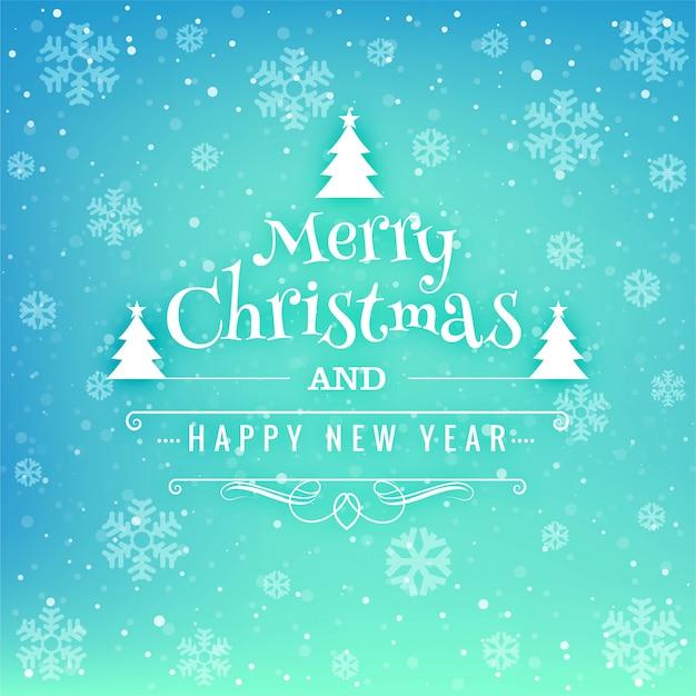 Schöner Kartenhintergrund der frohen Weihnachten des Festivals Kostenlose Vektoren