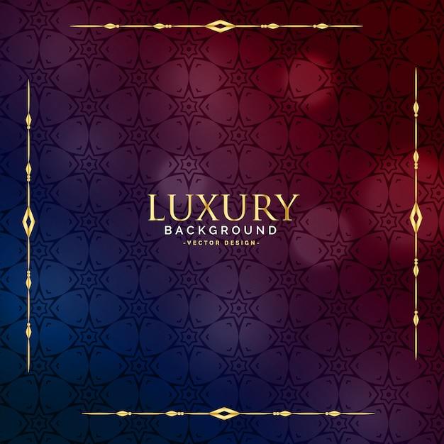 schönes Luxusweinlesehintergrunddesign Kostenlose Vektoren