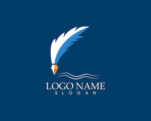 Schreibfeder schreiben zeichen logo Premium Vektoren