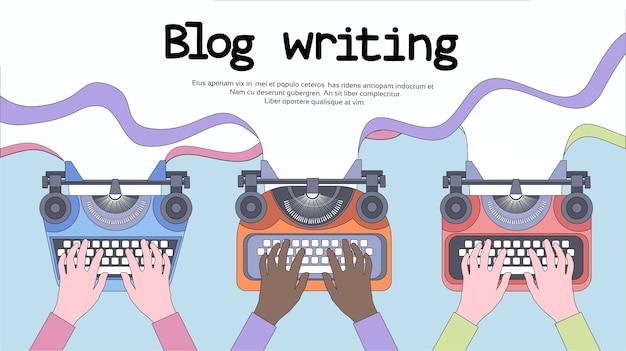 Schreibmaschinen-ikone retro style flat Premium Vektoren