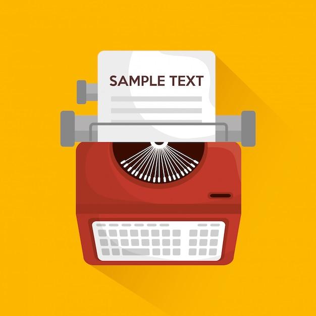 Schreibmaschinen-maschinendesign Premium Vektoren