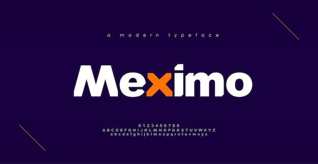 Schriftarten des modernen sports des abstrakten sports. typografie mutiges schriftdesign für sport, technologie, mode, digitales, zukünftiges kreatives logo schriftart. Premium Vektoren