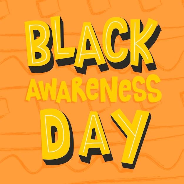 Schriftzug des schwarzen bewusstseins-tages Kostenlosen Vektoren