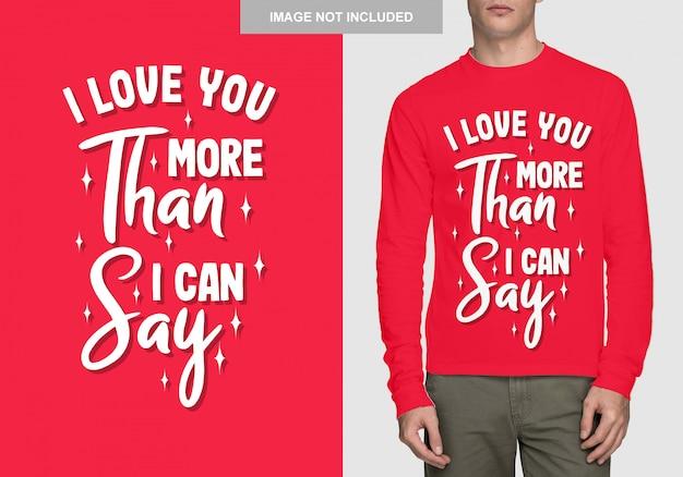 Schriftzug shirt design. romantische typografie Premium Vektoren