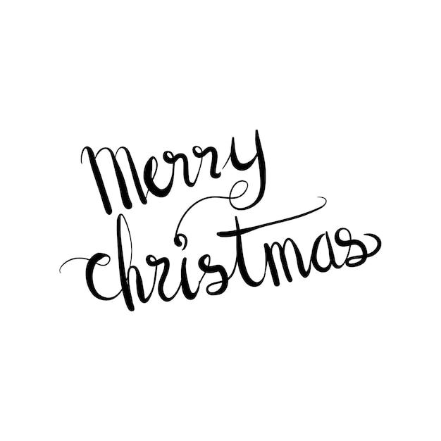 Schriftzug Wort Frohe Weihnachten Doodle Vector Illustration ...