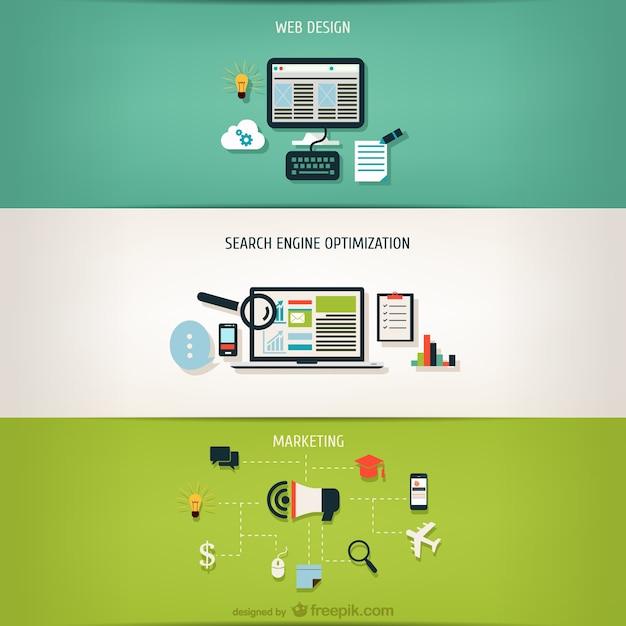 Schritt für Schritt Internet-Geschäft Kostenlose Vektoren