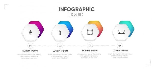 Schritt geschäft infografik Premium Vektoren