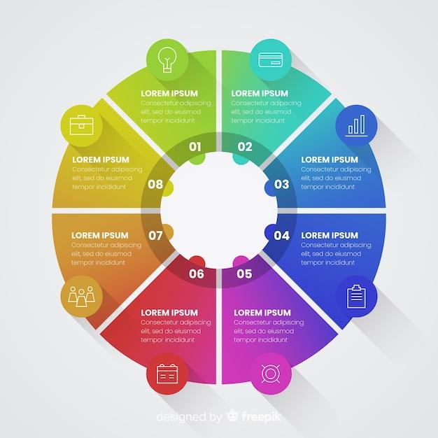 Schritte infografik Kostenlosen Vektoren