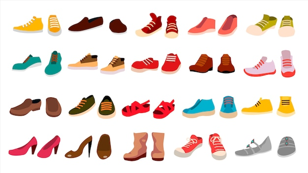 Schuhset Premium Vektoren