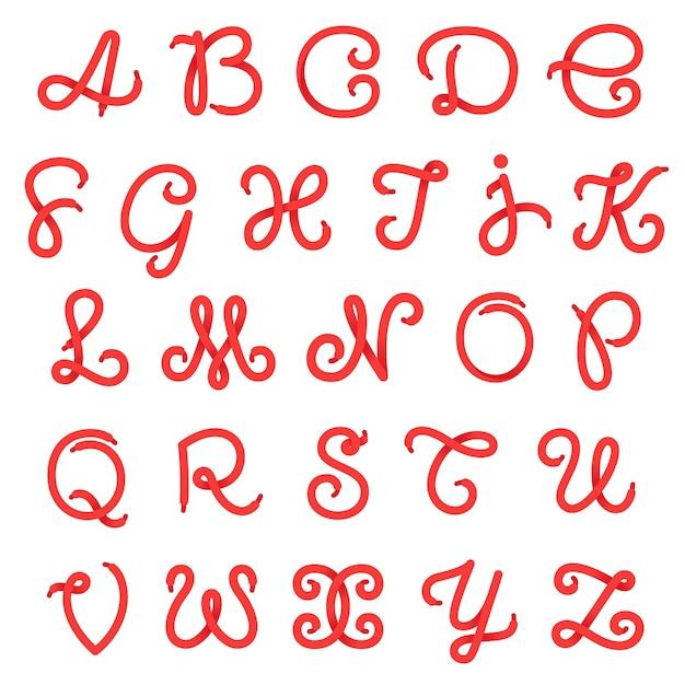 Schuhspitze alphabet buchstaben. Premium Vektoren
