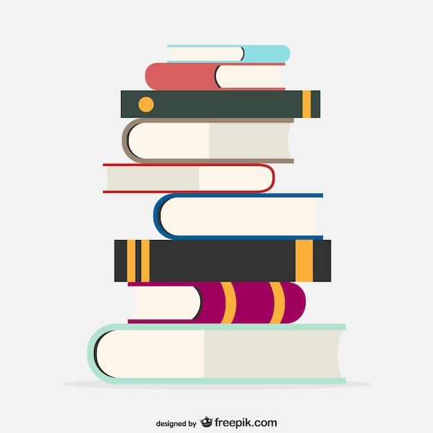 Schule Bücher Vektor-Vorlage Kostenlose Vektoren