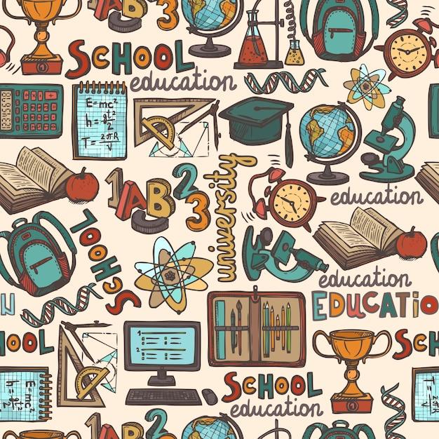Schule design muster download der kostenlosen vektor for Schule design