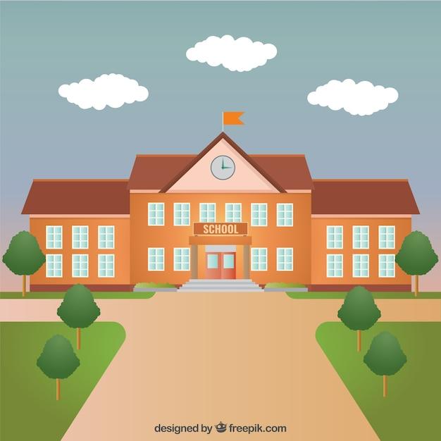 Schulgebäude Kostenlosen Vektoren