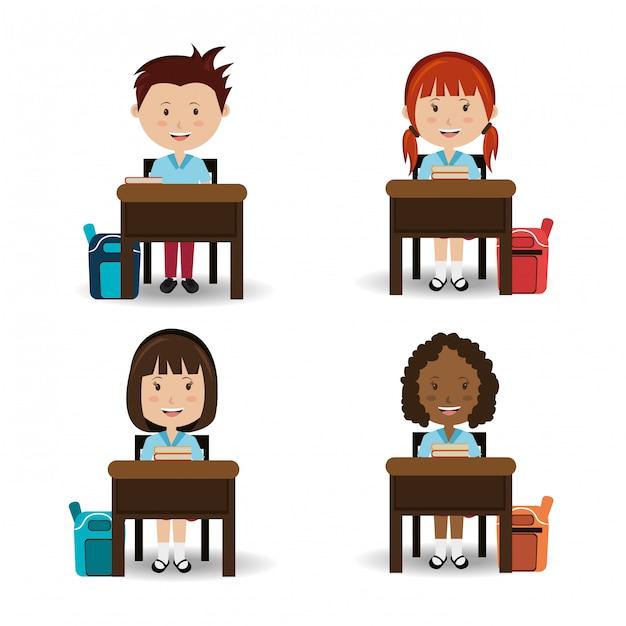 Schulgestaltung. Kostenlosen Vektoren