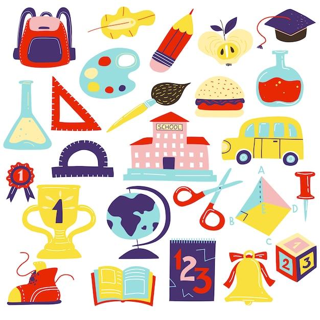 Schulmaterial-set Kostenlosen Vektoren