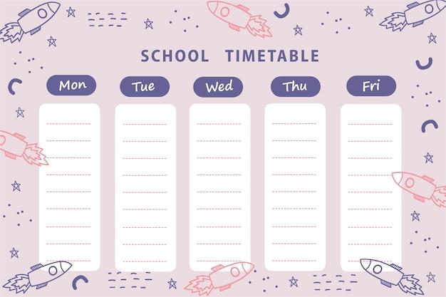 Schulplan, wochenplaner Premium Vektoren
