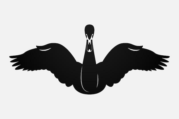 Schwan silhouette konzept Kostenlosen Vektoren