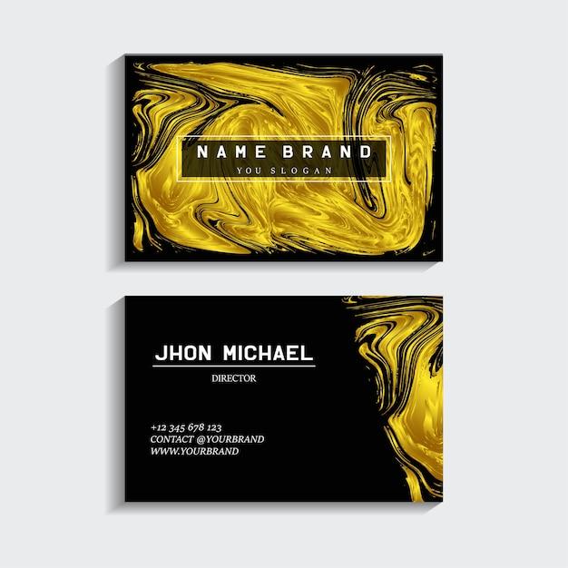 Schwarz Gold Visitenkarte Premium Vektor