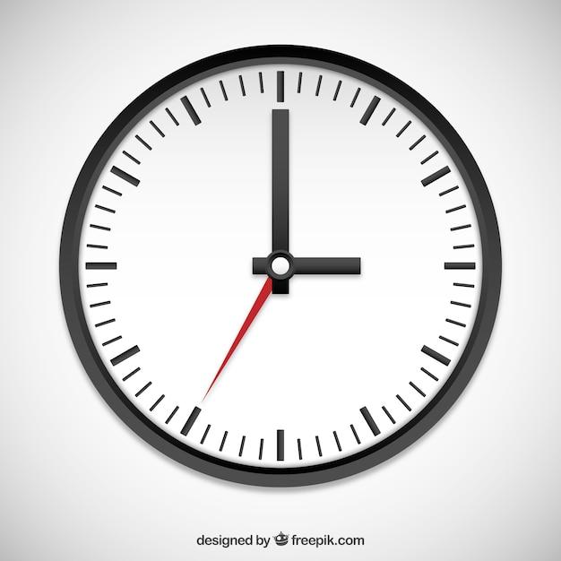 Schwarz-Weiß-Uhr Premium Vektoren
