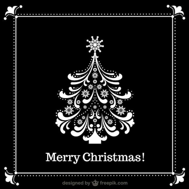 Schwarz wei weihnachtsbaum download der kostenlosen vektor - Schwarzer weihnachtsbaum ...
