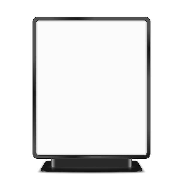 Schwarze anschlagtafel auf weißem hintergrund, illustration des vektors eps10 Premium Vektoren