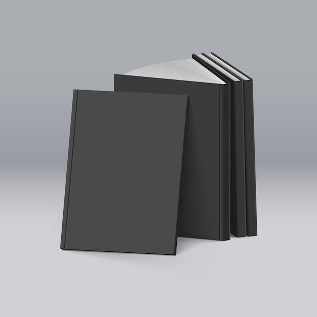 Schwarze bücher Premium Vektoren