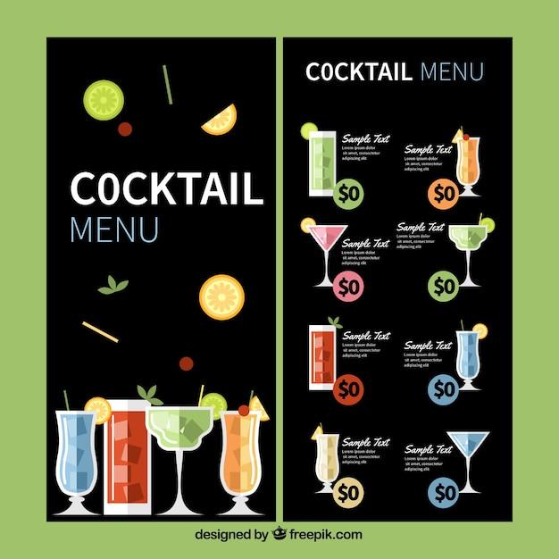 Lade Elegante Moderne Cocktailkarte Vorlage 15