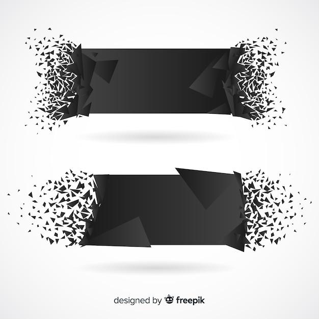 Schwarze explosion banner Kostenlosen Vektoren