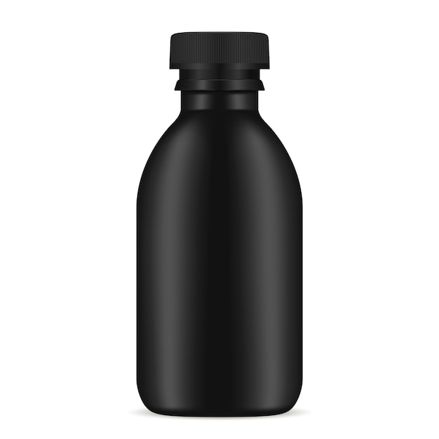 Schwarze flasche kosmetikprodukt Premium Vektoren