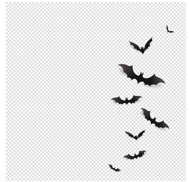 Schwarze fledermäuse fliegen in Premium Vektoren