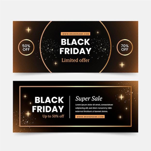 Schwarze freitag-banner im flachen design Kostenlosen Vektoren