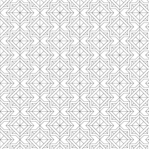 Schwarze geometrische nahtlose muster stellten auf einen weißen hintergrund ein Kostenlosen Vektoren
